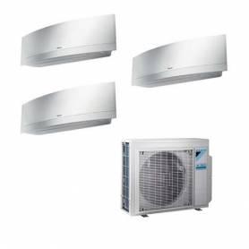 Condizionatore Daikin Trial Split Inverter Emura White 7000+9000+18000 7+9+18 Btu A+++ Wi-Fi R-32 3MXM68M