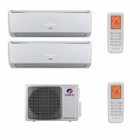 Condizionatore Gree Dual Split Lomo 9000+12000 9+12 Btu Inverter GWHD(14)NK3 A++