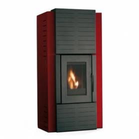 Stufa a pellet palazzetti ecofire olga idro 24 kw rosso gm termoidraulica - Detrazione fiscale stufa a pellet ...