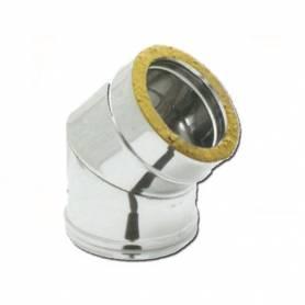 Curva 45°a Doppia Parete Coibentatato Acciaio Inox 100-150 mm
