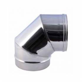 Curva a 90° per Canna Fumaria Acciaio Inox AISI 304 0,5 mm Diametro 130 mm