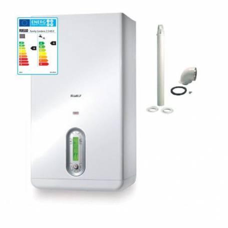 Caldaia a Gas a Condensazione Riello Family Condens 2,5 Kis ErP 25 kW Metano Kit Fumi Incluso