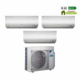 Condizionatore Daikin Trial Split Inverter Emura White 7000+7000+18000 7+7+18 Btu A+++ Wi-Fi R-32 3MXM68M