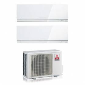 Condizionatore Mitsubishi Dual Split Inverter 9+12 9000+12000 Btu A++ Kirigamine Zen White MXZ-2D42VA