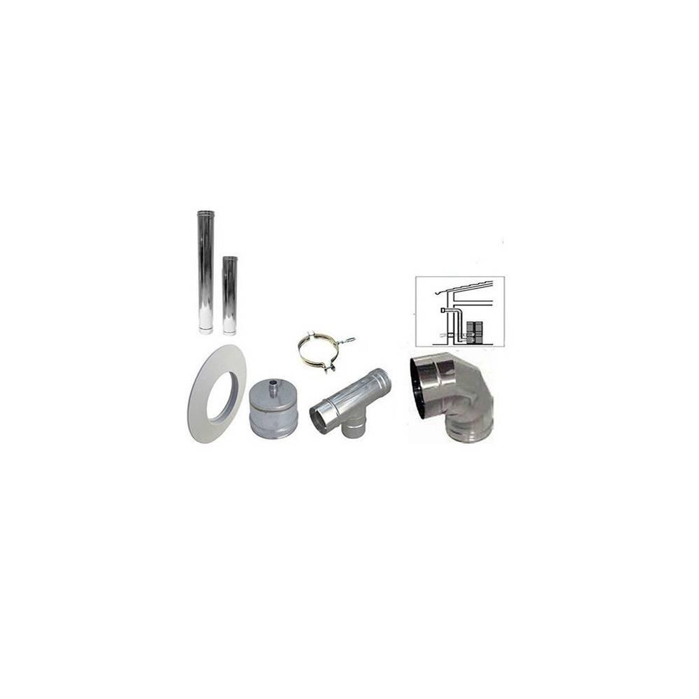 Kit scarico fumi stufa a pellet acciao inox 250 cm diametro 80 gm termoidraulica - Tubi scarico fumi stufe a pellet ...