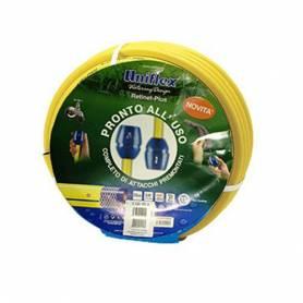 TUBO DA GIARDINO A 3 STRATI 1/2 BLACK&YELLOW UNIFLEX 15MT GIALLO BLU