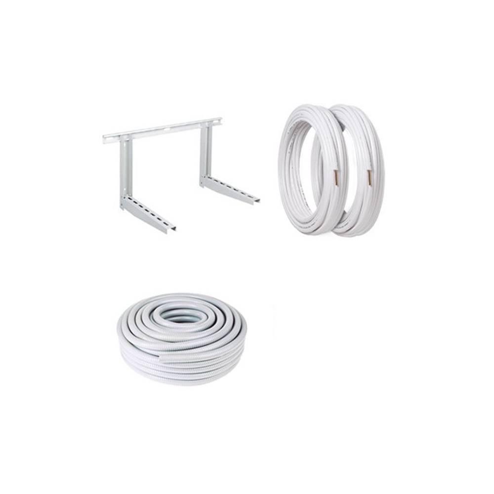 Kit installazione climatizzatore condizionatore 5 metri tubo rame staffa tubo scarico condensa