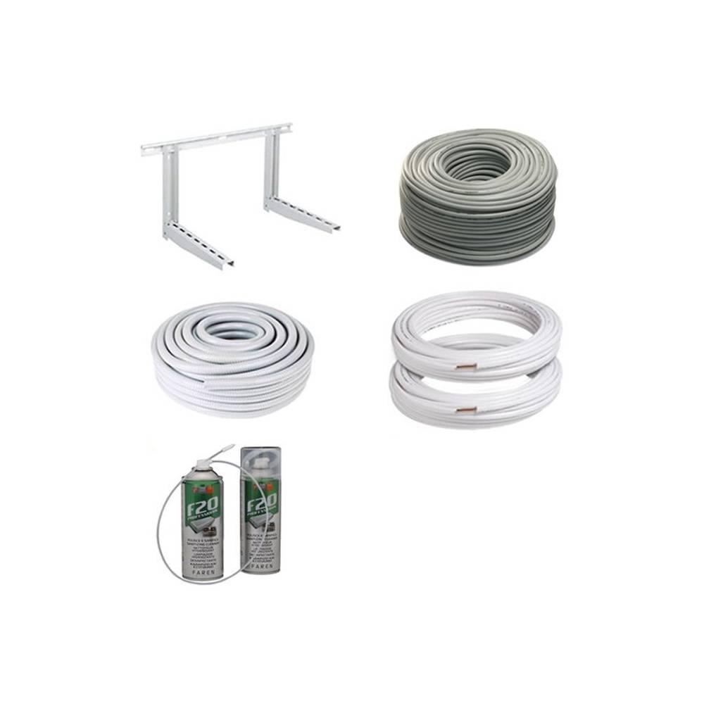 Kit installazione climatizzatore condizionatore 3 metri