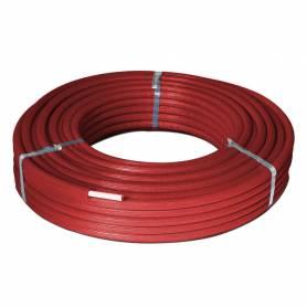 Tubo multistrato rivestito isolato rotolo da 50 m PEXb-Al-PEXb Sesta MRPX1602L DN 16x2 di colore Rosso