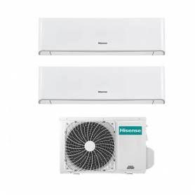 Condizionatore Hisense Energy dual split con inverter e Wifi da 9000+18000 Btu R32 A++