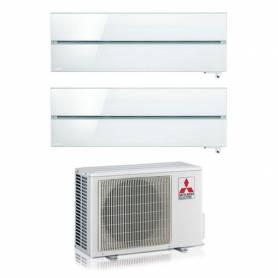 Condizionatore con inverter dual split Mitsubishi LN 9000+9000 Btu Pearl White con WiFi in R32 A+++ MXZ-2F53VF