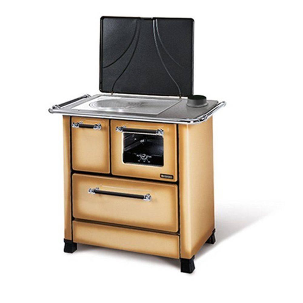 Cucina a legna la nordica romantica 4 5 da 6 kw colore cappuccino gm termoidraulica - Nordica cucina a legna ...