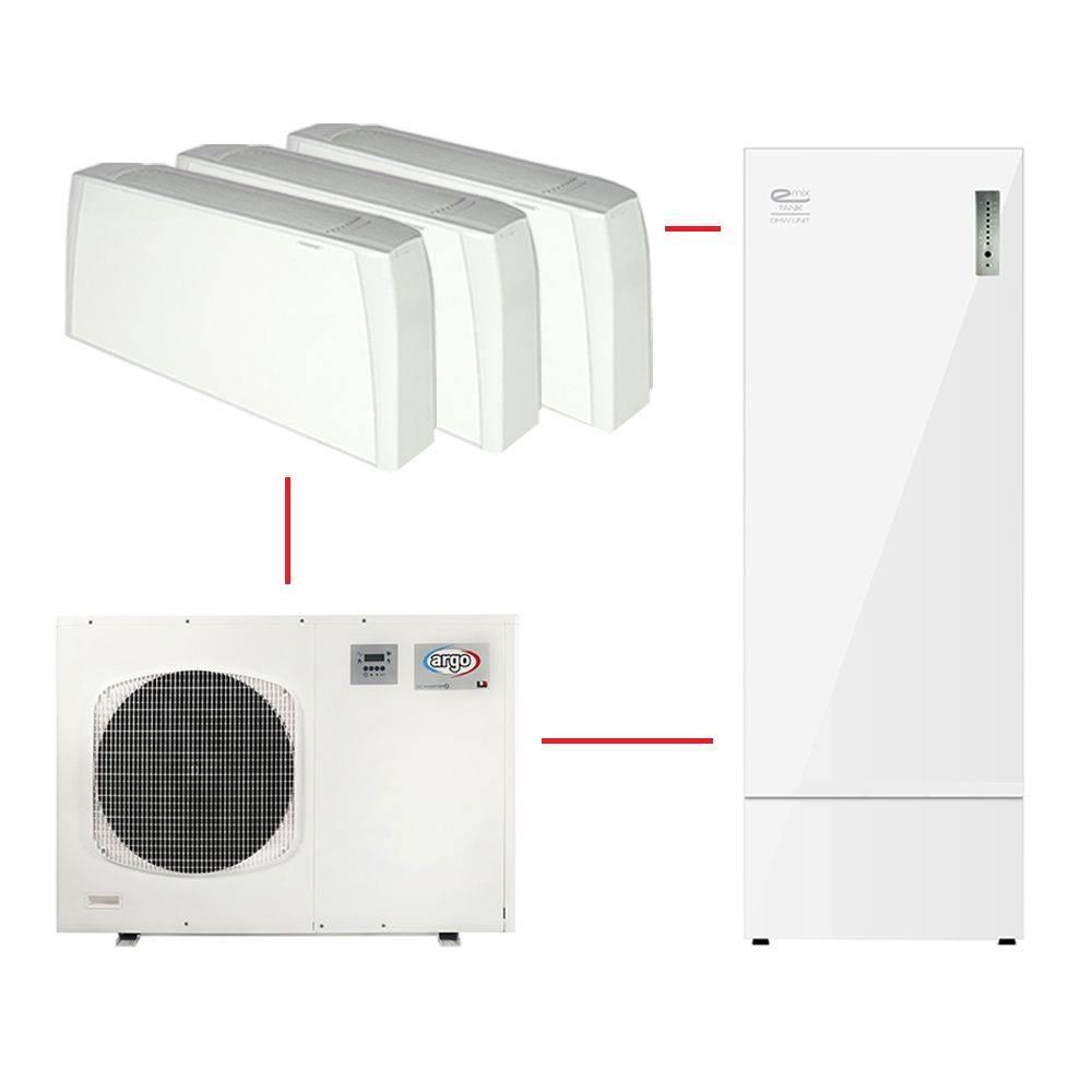 Pompa Di Calore Ventilconvettori sistema a pompa di calore argo im da 8 kw completo di accumulo emix tank  300 e fancoil sabiana crc 23