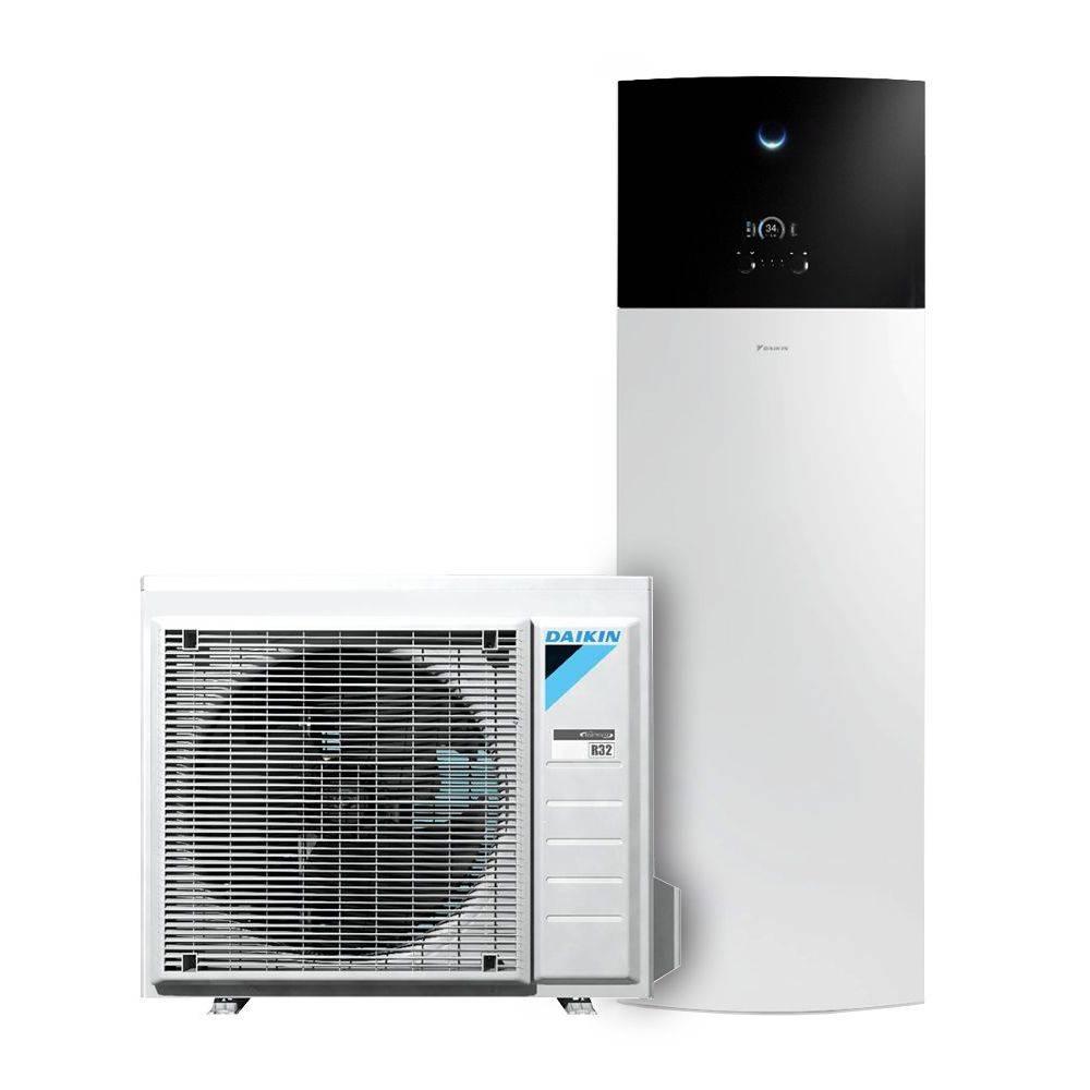 Pompa Di Calore Per Bagno pompa di calore aria acqua daikin altherma integrated r32 da 6 kw con  serbatoio per acqua calda sanitaria da 180 lt
