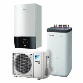 Pompa di calore aria acqua Daikin Altherma Bi-Bloc R32 da 4 kw con serbatoio per acqua calda sanitaria da 500 lt