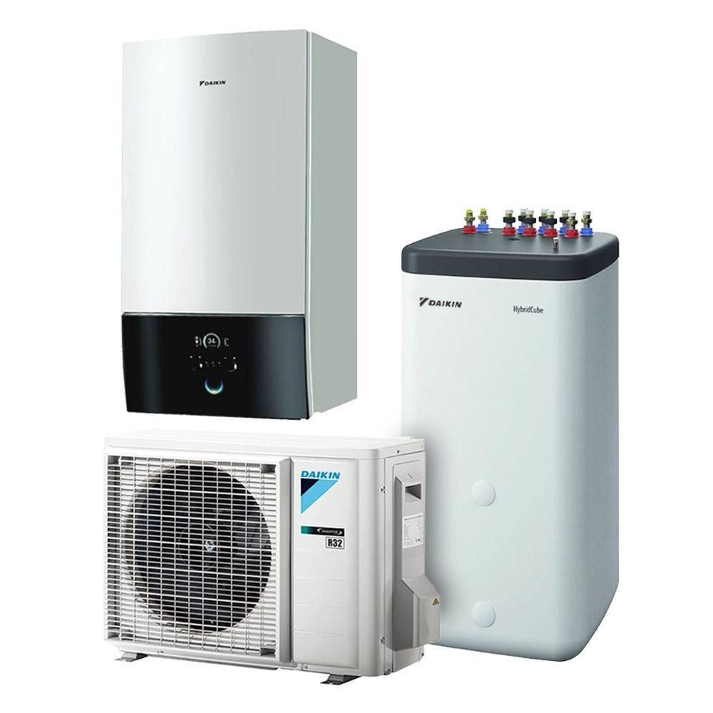 Pompa Di Calore Per Bagno pompa di calore aria acqua daikin altherma bi-bloc r32 da 4 kw con  serbatoio per acqua calda sanitaria da 300 lt