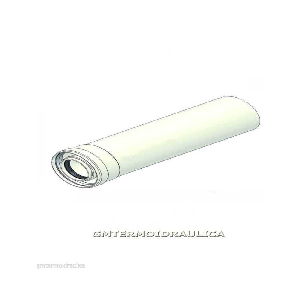 Tubo prolunga 60 100 coassiale per caldaie tradizionali for Tubo scaldabagno