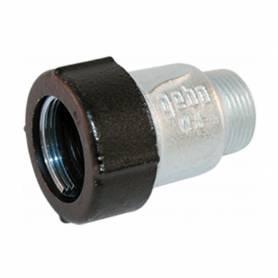 """Raccordo a compressione in ghisa DN 40 con filettatura 1""""1/2 M Gebo AQ per tubo in acciaio e polietilene"""