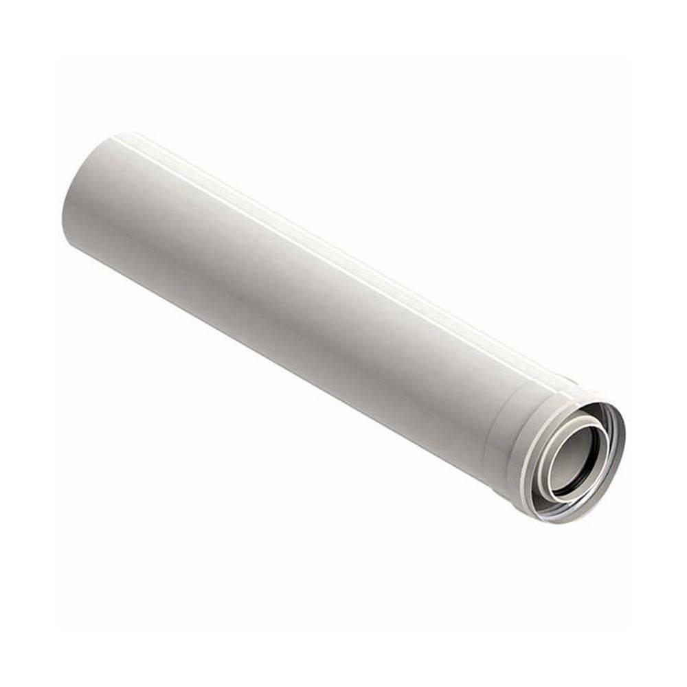 Prolunga coassiale 60/100 tubo scarico fumi per caldaia e scaldino da 1 metro