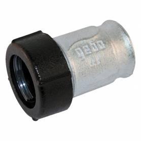 """Raccordo a compressione in ghisa DN 32 con filettatura 1""""1/4 F Gebo IQ per tubo in acciaio e polietilene"""