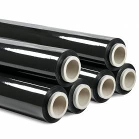 Pellicola imballo nera 6 pezzi film estensibile manuale h 50cm