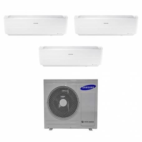 Condizionatore Samsung Windfree Evo Wifi trial split 9000+9000+9000 Btu inverter A++ in R32 AJ068RCJ3EG