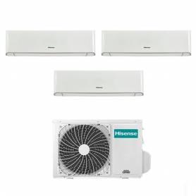 Condizionatore trial split con inverter Hisense Energy 9000+9000+12000 WiFi 3AMW72U4RFA in A++