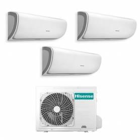 Condizionatore trial split con inverter Hisense Silentium 9000+9000+12000 WiFi 3AMW72U4RFA in A++