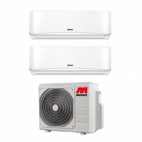 Condizionatore dual split con inverter Maxa Pluma 9000+9000 FD2M42R in A++