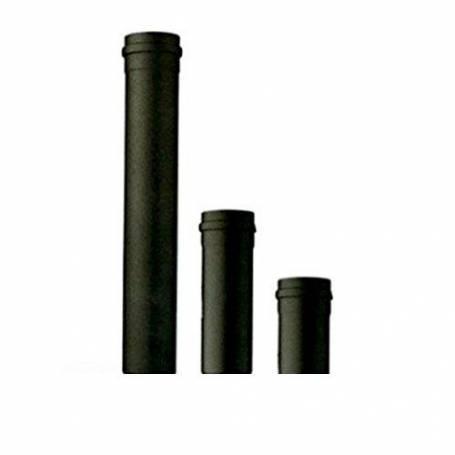 TUBO PER SCARICO FUMI NERO 25CM 250mm D.80 PER  STUFA A PELLET spessore 1,2