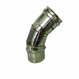 CURVA GOMITO ACCIAIO INOX STUFA A PELLET D. 80 45° AISI 304 L