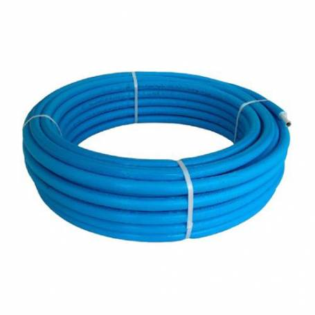 TUBO ROTOLO MULTISTRATO RIVESTITO COIBENTATO ISOLATO BAMPI MODELLO BALPEX MTRIXB26 - 26 X 3 - A METRO Colore blu