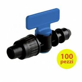 Valvola per Tape Manichetta Diametro 17 mm Innesto Tubo Polietilene 50 Pzz