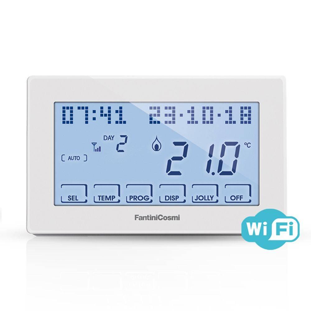 Cronotermostato settimanale Fantini Cosmi CH180 WiFi touchscreen
