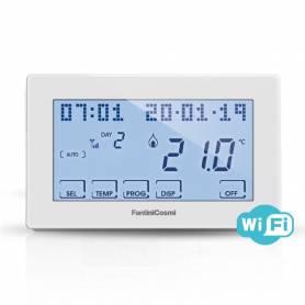 Cronotermostato settimanale Fantini Cosmi CH180 WiFi Lite touchscreen