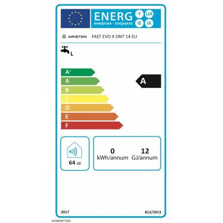 SCALDABAGNO A GAS ARISTON FAST EVO X 14 EU GPL CLASSE ENERGETICA A 3632390