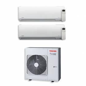 Climatizzatore Toshiba Akita EVO Hi-Wall dual split 10000+16000 Btu inverter RAS-2M18S3AV-E