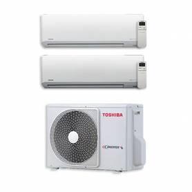 Climatizzatore Dual Split Toshiba 7000+13000 btu Akita EVO Hi-Wall RAS-2M18S3AV-E