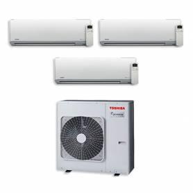 Climatizzatore trial split Toshiba 10000+10000+10000 Btu Akita EVO Hi-Wall RAS-3M18SAV-E
