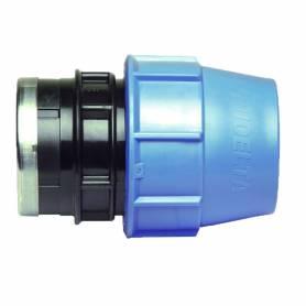 Raccordo filettato femmina a compressione PN16 per tubo polietilene