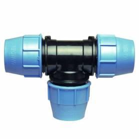 Raccordo TEE 90 a compressione PN16 per tubo polietilene