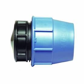Raccordo tappo terminale PE a compressione PN16 per tubo polietilene