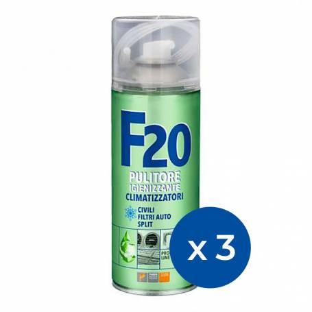 Kit da 3 spray igienizzante Faren F20 disinfettante per condizionatore