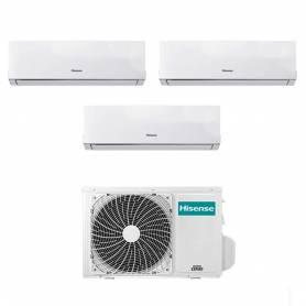Condizionatore Hisense New Comfort trial split 7000+12000+12000 btu con inverter in R32 A++ 3AMW62U4RFA