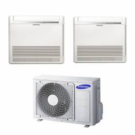 Climatizzatore a console dual split Samsung 9000+9000 btu con inverter in classe A++