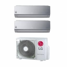 Climatizzatore LG Artcooler Mirror Silver wifi dual split 9000+9000 btu inverter in R32