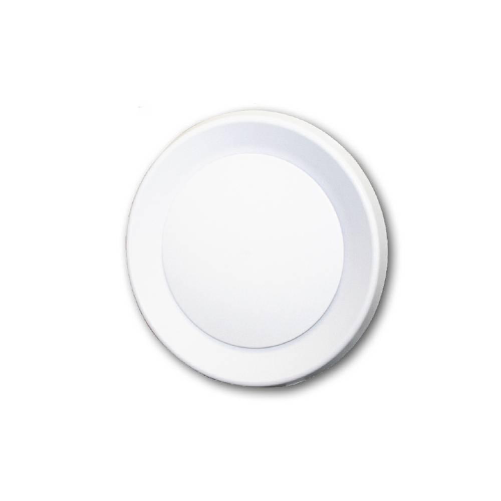 Diffusore circolare a singolo cono Tecnosystemi regolabile in plastica ABS bianca a fissaggio rapido