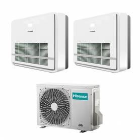 Climatizzatore con inverter dual split Console Hisense AKT26+AKT35 9000+12000 Btu R32 in A++