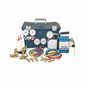 Mini kit vuoto Tecnosystemi e carica in valigia per gas R410A R32 R407C R22