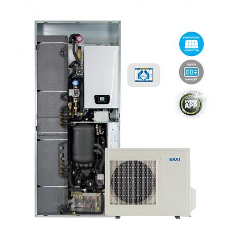 Sistema ibrido Baxi CSI IN 6 Idro H Wi-Fi pompa di calore e caldaia con Wi-Fi